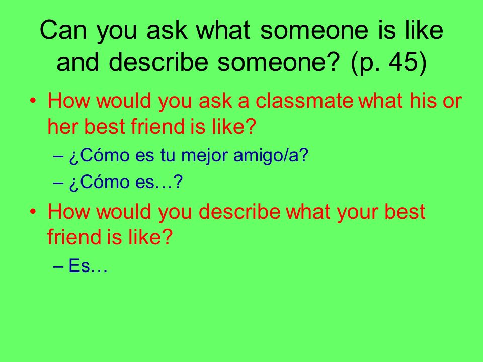 Can you ask and tell someones age and birthday.(p.