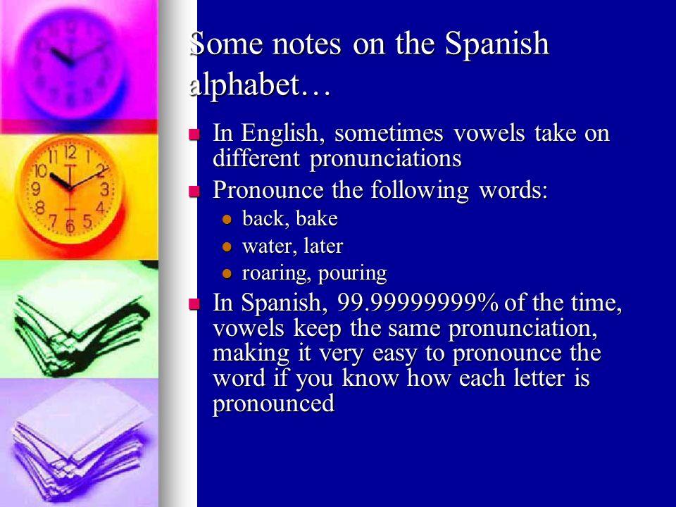 Zz [zeta] *Pronounced like the letter s *In Spain, pronounced like the letters th (lisp) Zapatos, zorro