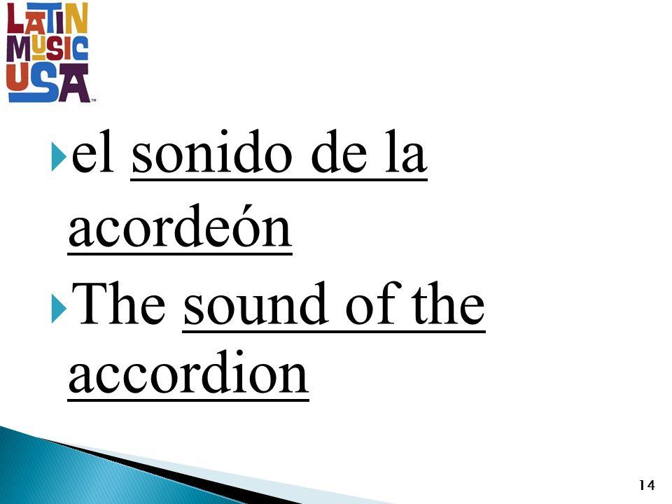 el sonido de la acordeón The sound of the accordion 14