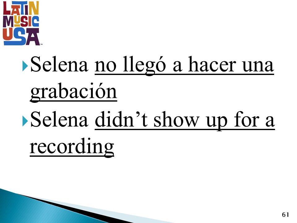 Selena no llegó a hacer una grabación Selena didnt show up for a recording 61