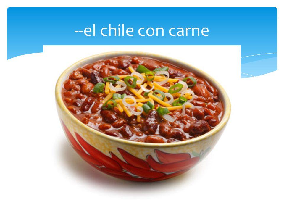 las comidas mexicanas Los nombres de