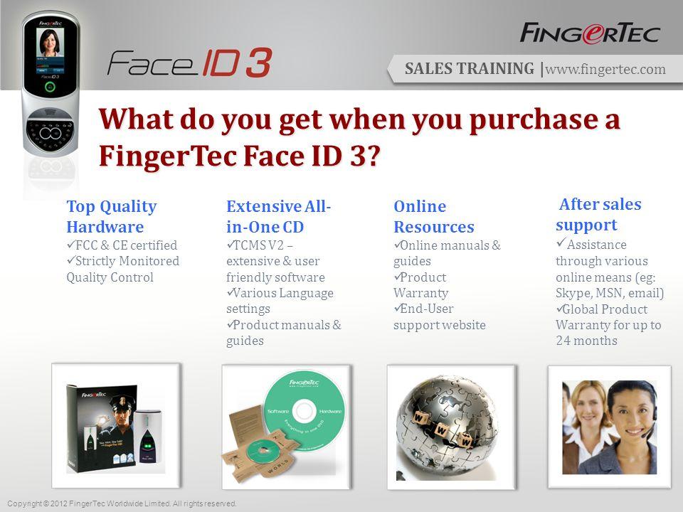 SALES TRAINING | www.fingertec.com FingerTec Makes Things Easy.