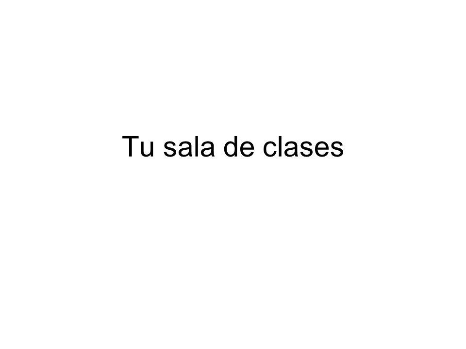 Tu sala de clases
