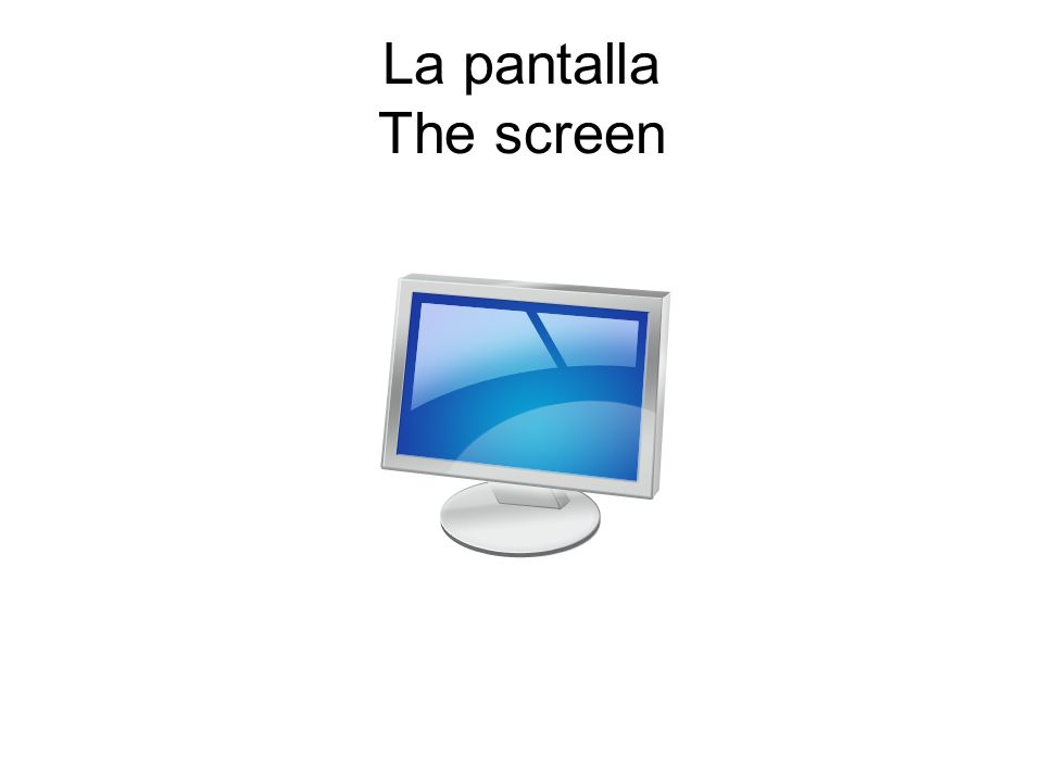 La pantalla The screen