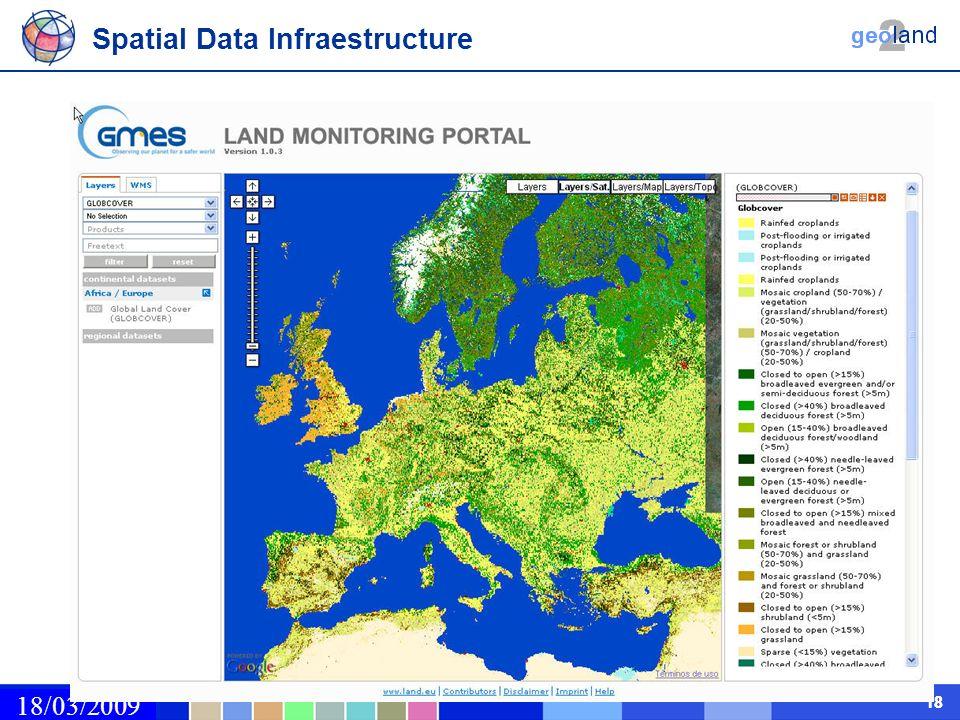 02/03/2009 18 Spatial Data Infraestructure 18/03/2009