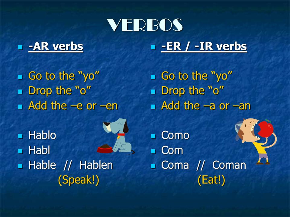 Las Reglas In AFFIRMATIVE COMMANDS the pronoun… In AFFIRMATIVE COMMANDS the pronoun… FOLLOWS the verb (at the end) FOLLOWS the verb (at the end) Is ATTACHED Is ATTACHED ¡¡This works the same for both Tú and Ud.