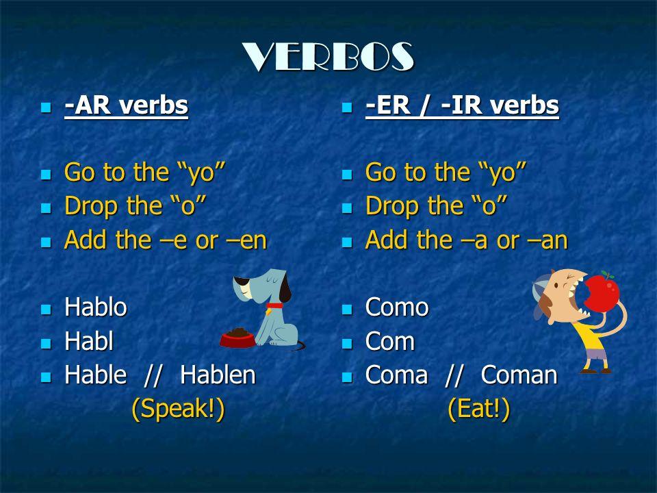 Vamos a practicar… Escriba los verbos en la forma de un mandato (ud.