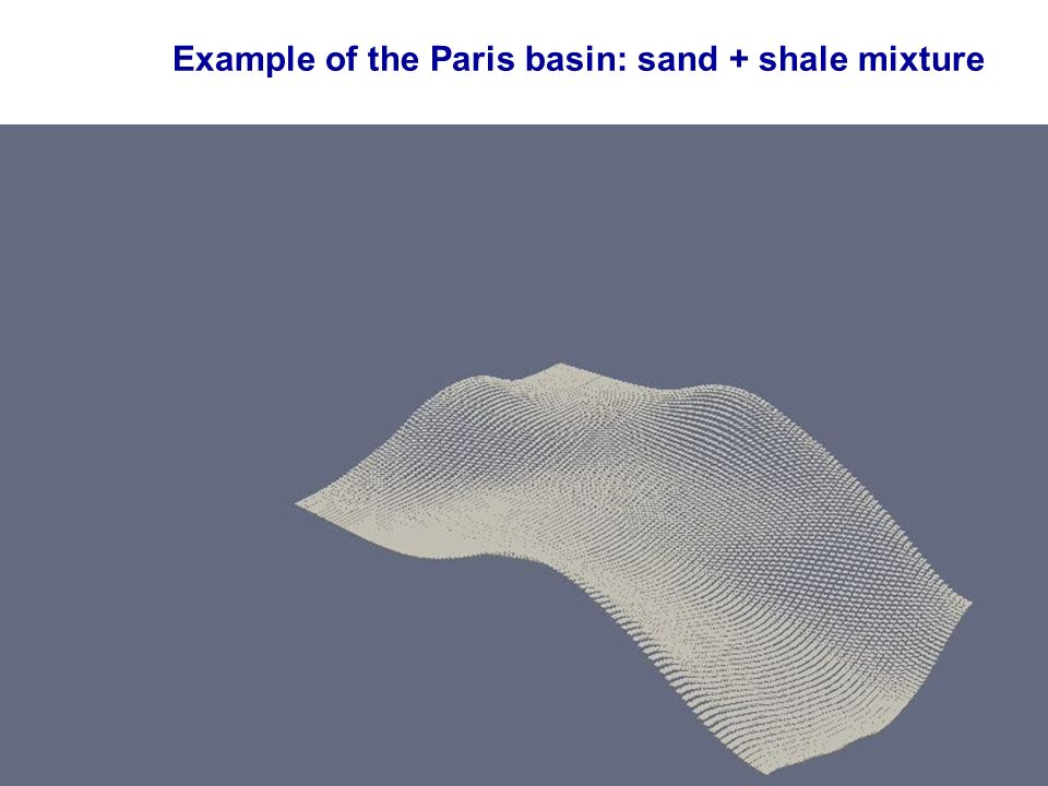 Example of the Paris basin: sand + shale mixture 28