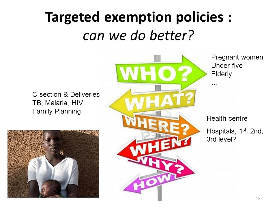 18 Targeted exemption policies : can we do better.