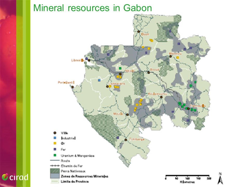 Mineral resources in Gabon