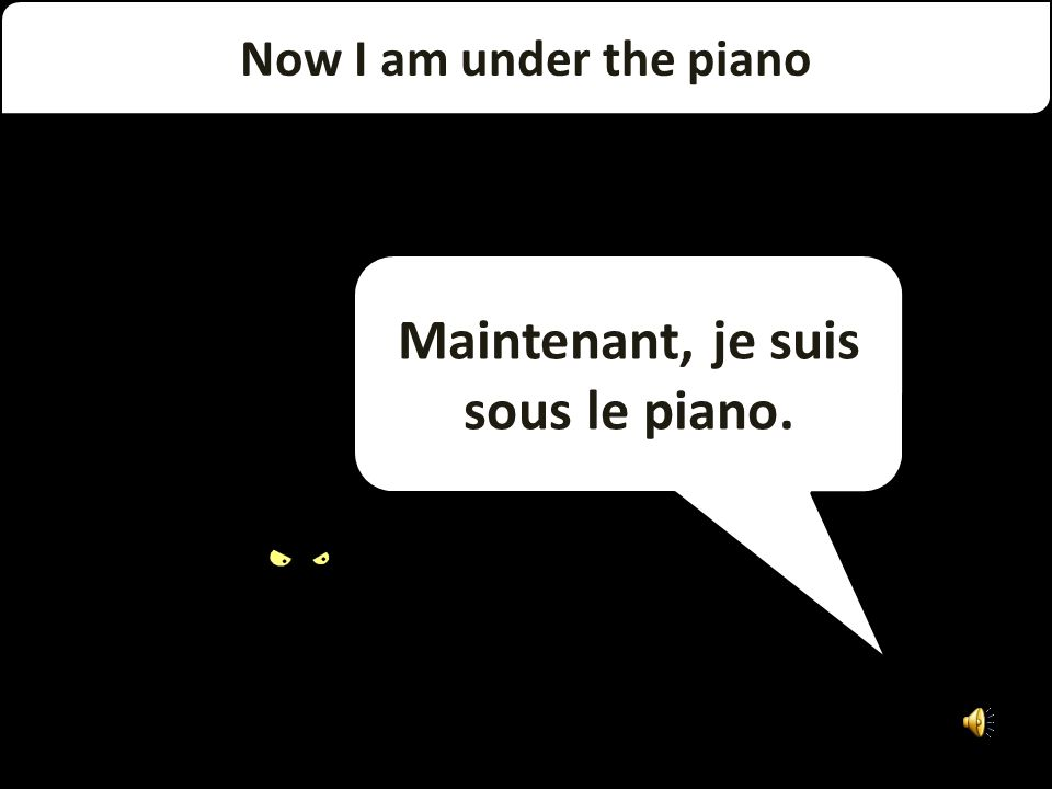 On the right is my black piano. À droite se trouve mon piano noir.