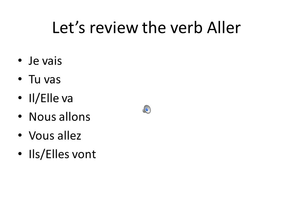 Aller is also used to form the near future This is very good to know when you dont know the true future yet, and want to express future ideas, concept