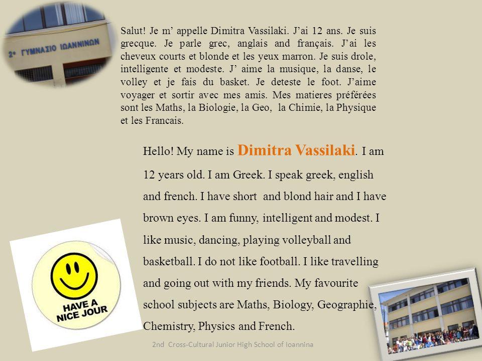 2nd Cross-Cultural Junior High School of Ioannina Salut.