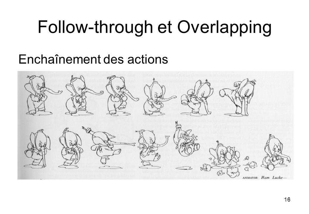 16 Follow-through et Overlapping Enchaînement des actions