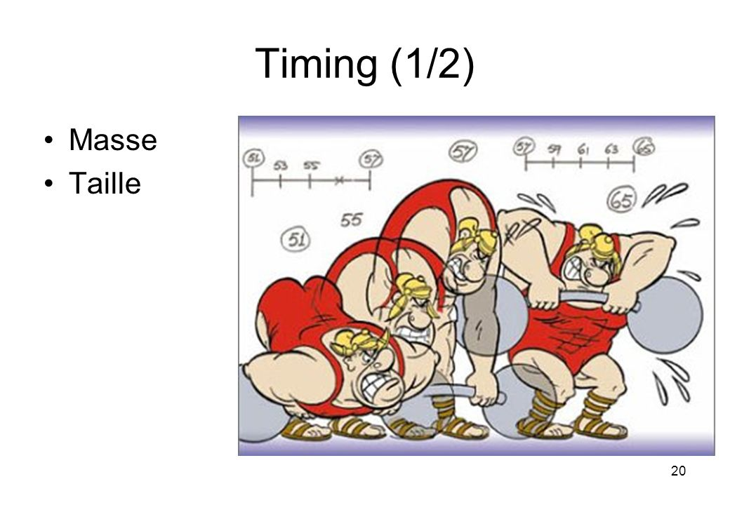 20 Timing(1/2) Masse Taille