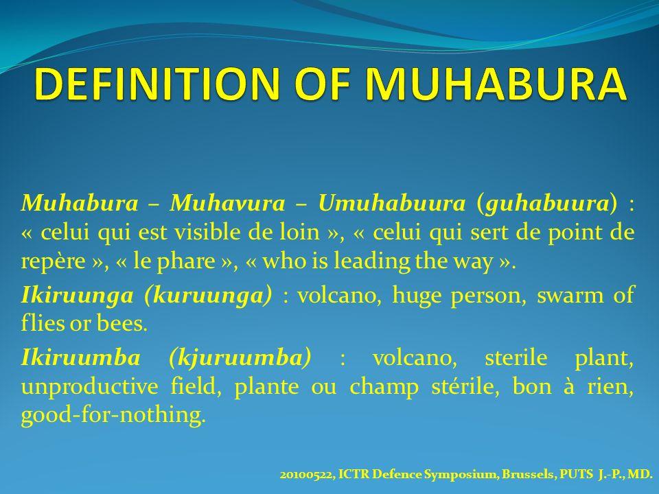Muhabura – Muhavura – Umuhabuura (guhabuura) : « celui qui est visible de loin », « celui qui sert de point de repère », « le phare », « who is leadin