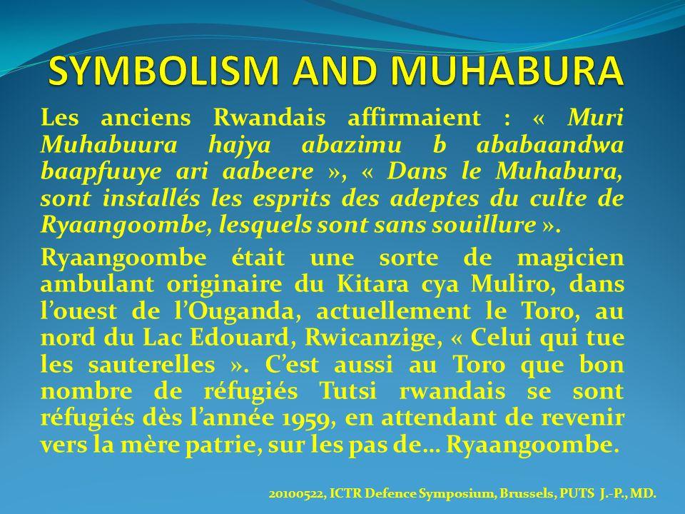 Les anciens Rwandais affirmaient : « Muri Muhabuura hajya abazimu b ababaandwa baapfuuye ari aabeere », « Dans le Muhabura, sont installés les esprits