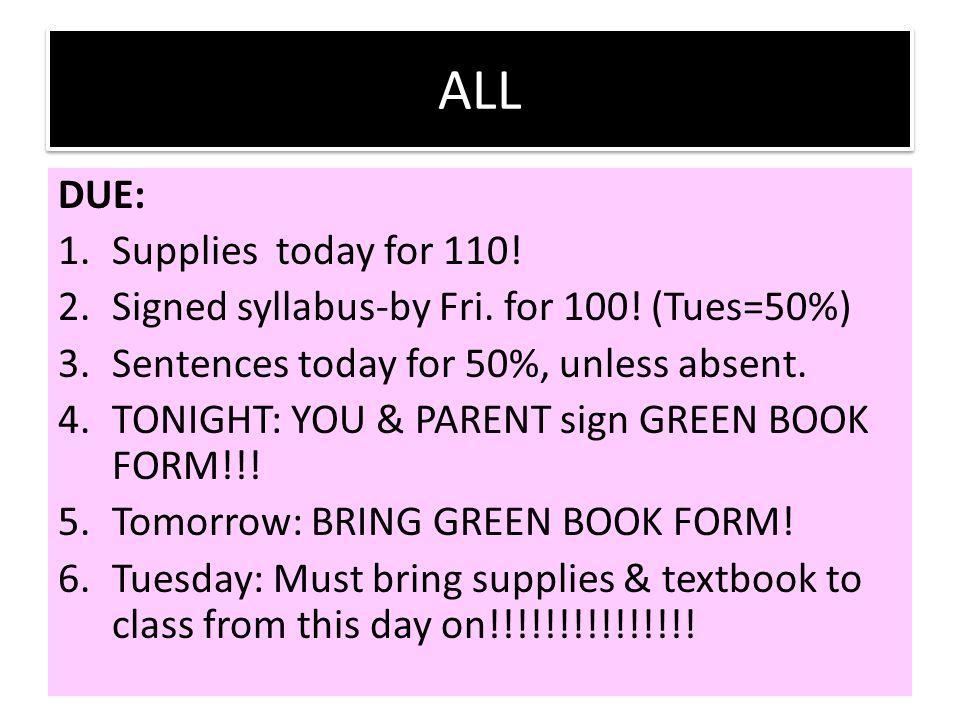 Grade Policy: 1.