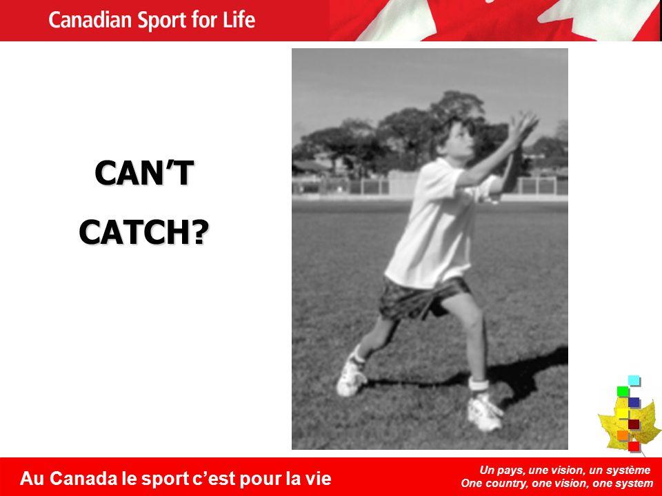Un pays, une vision, un système One country, one vision, one system Au Canada le sport cest pour la vie CANTCATCH