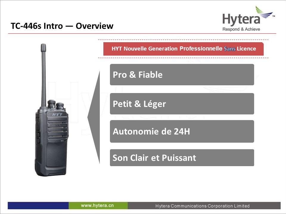 Pro & Fiable Petit & Léger Son Clair et Puissant Autonomie de 24H TC-446s Intro Overview