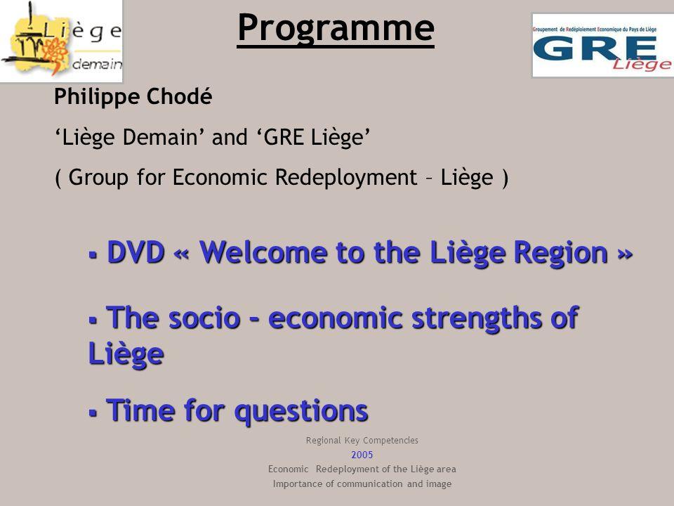 Multilinguism Province of Liège Labor Force French: 946.000 inhabitants German: 69.000 inhabitants Province of Liège: 2 official languages 3 official languages (French, Dutch & German) 4 countries (Belgium, France, Netherlands & Germany) 3.598.600 inhabitants Within 60 km/35 miles :