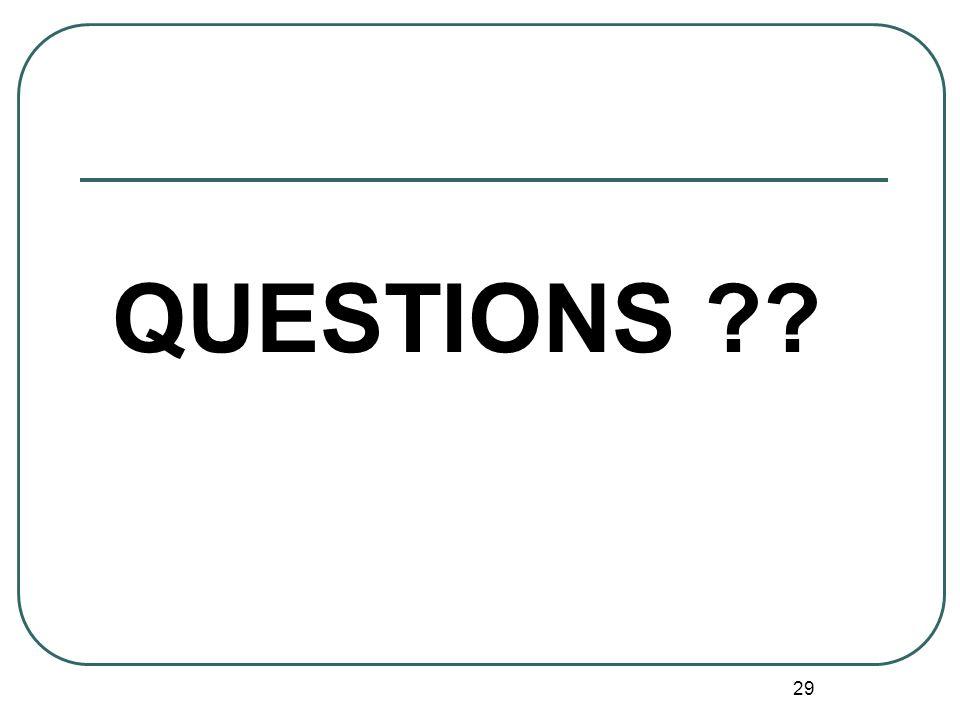 29 QUESTIONS