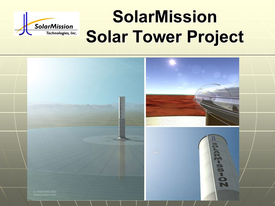 SolarMission Solar Tower Project
