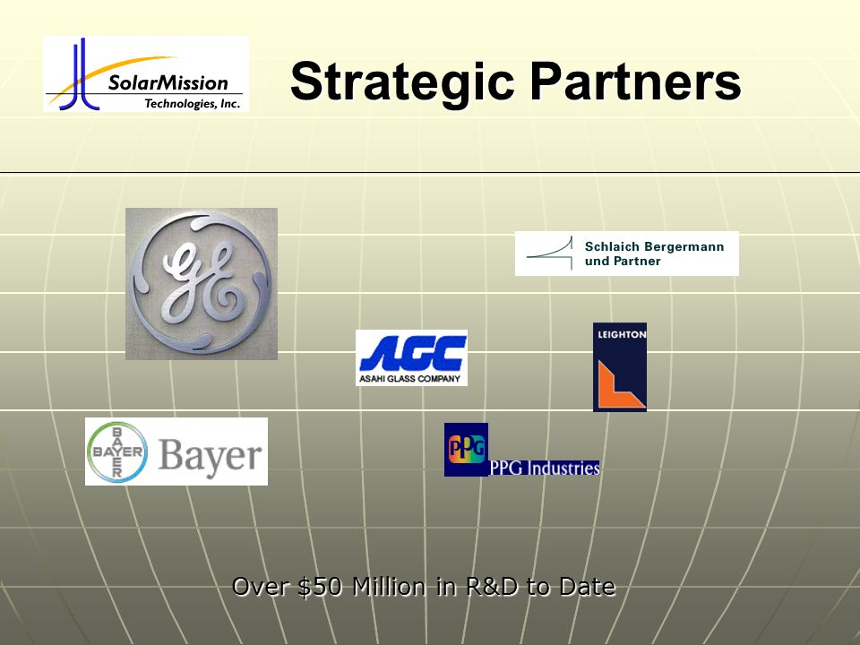 Strategic Partners Over $50 Million in R&D to Date Over $50 Million in R&D to Date