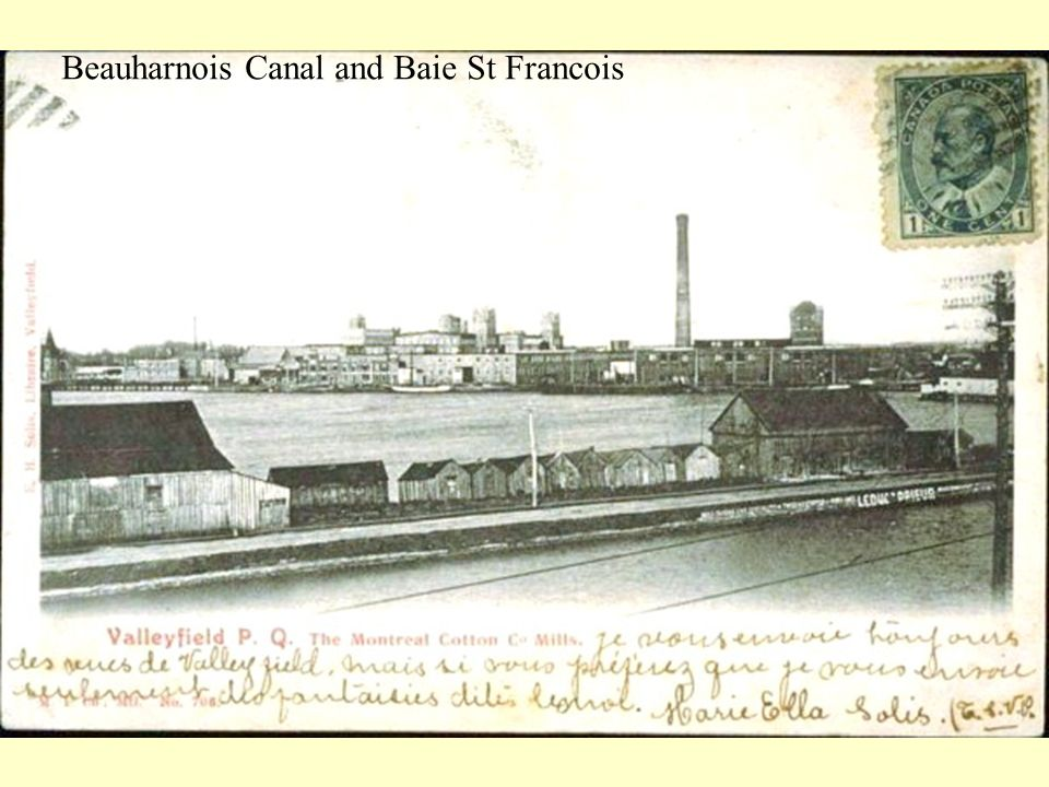 Beauharnois Canal and Baie St Francois