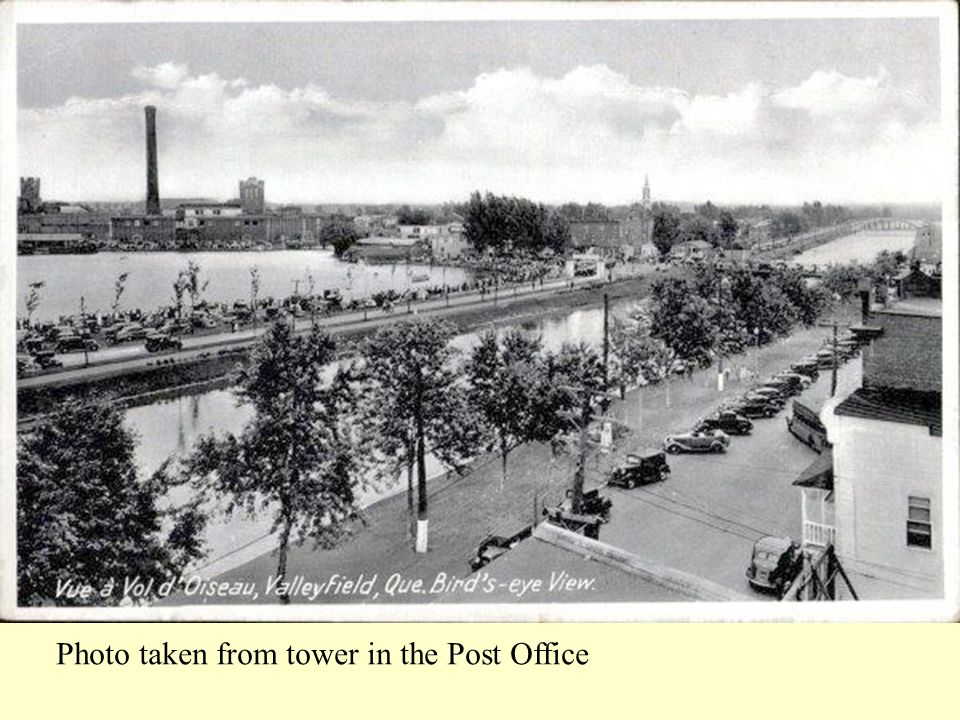 Photo taken from tower in the Post Office