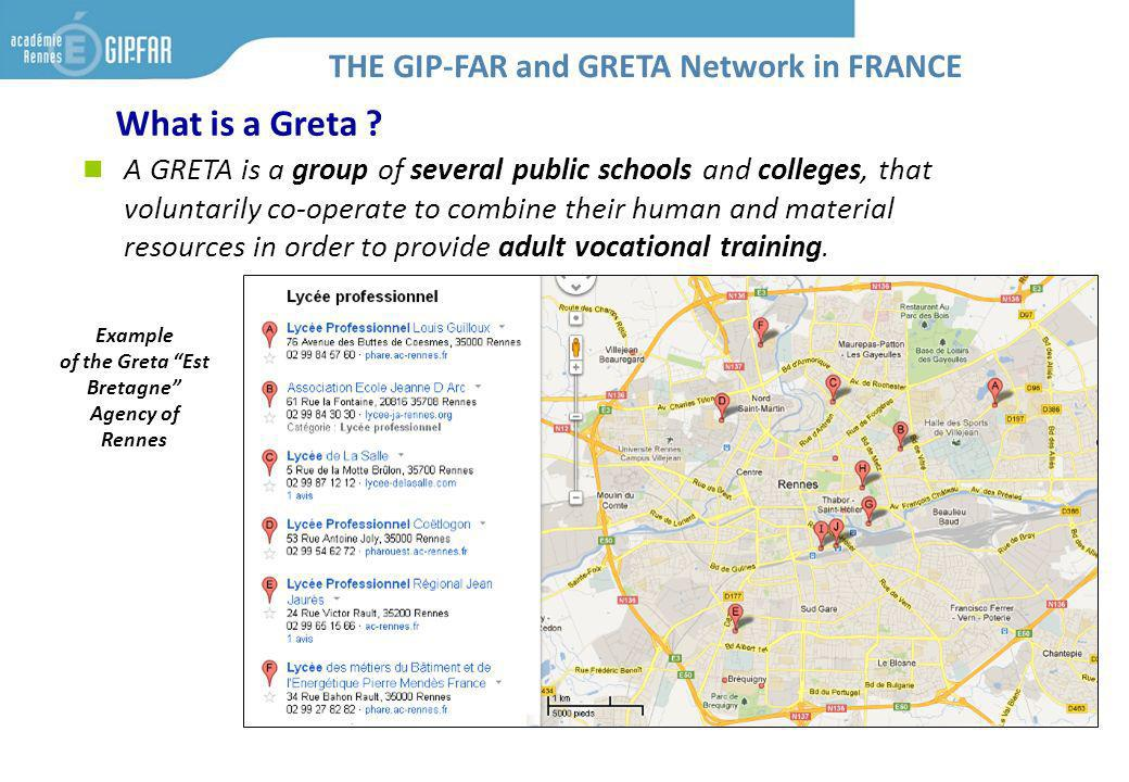 What is a Greta ? A GRETA is a group of several public schools and colleges, that voluntarily co-operate to combine their human and material resources