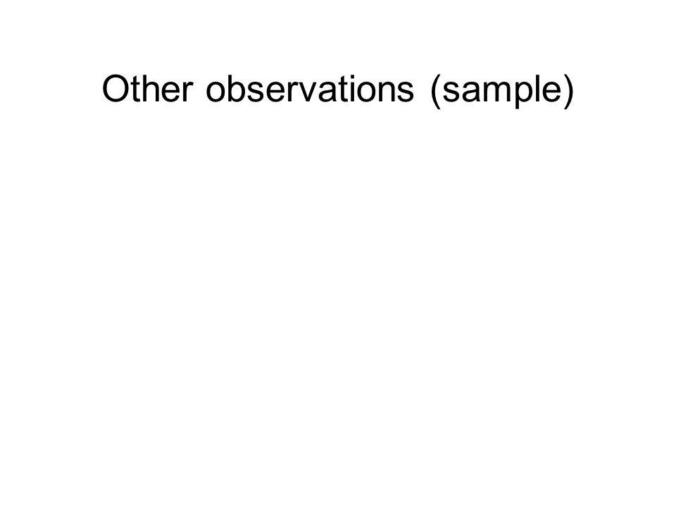 Other observations (sample)