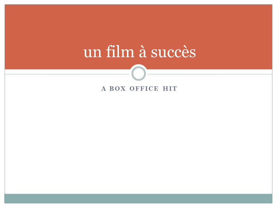 A BOX OFFICE HIT un film à succès