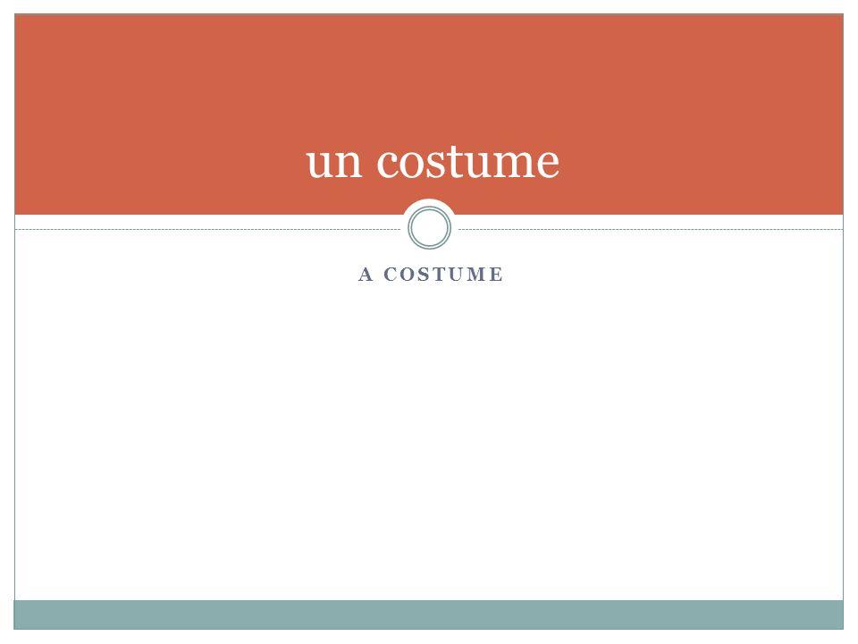 A COSTUME un costume
