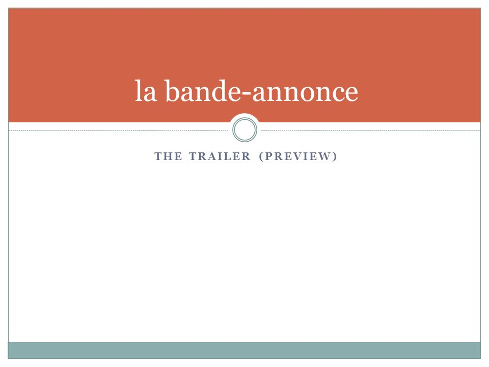 THE TRAILER (PREVIEW) la bande-annonce