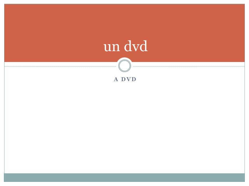 A DVD un dvd