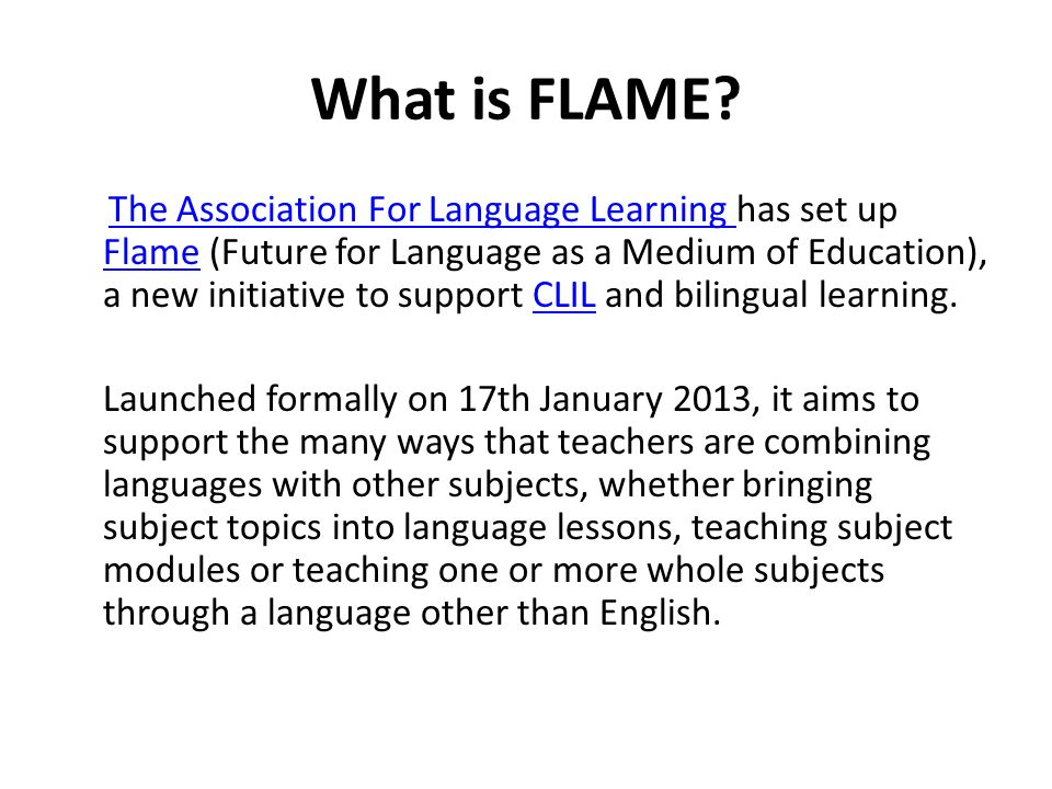 What is FLAME.