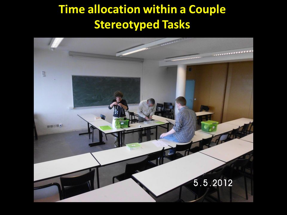 Time allocation within a Couple Stereotyped Tasks