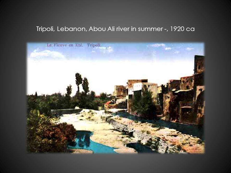 Tripoli, Lebanon, Abou Ali river in summer -, 1920 ca