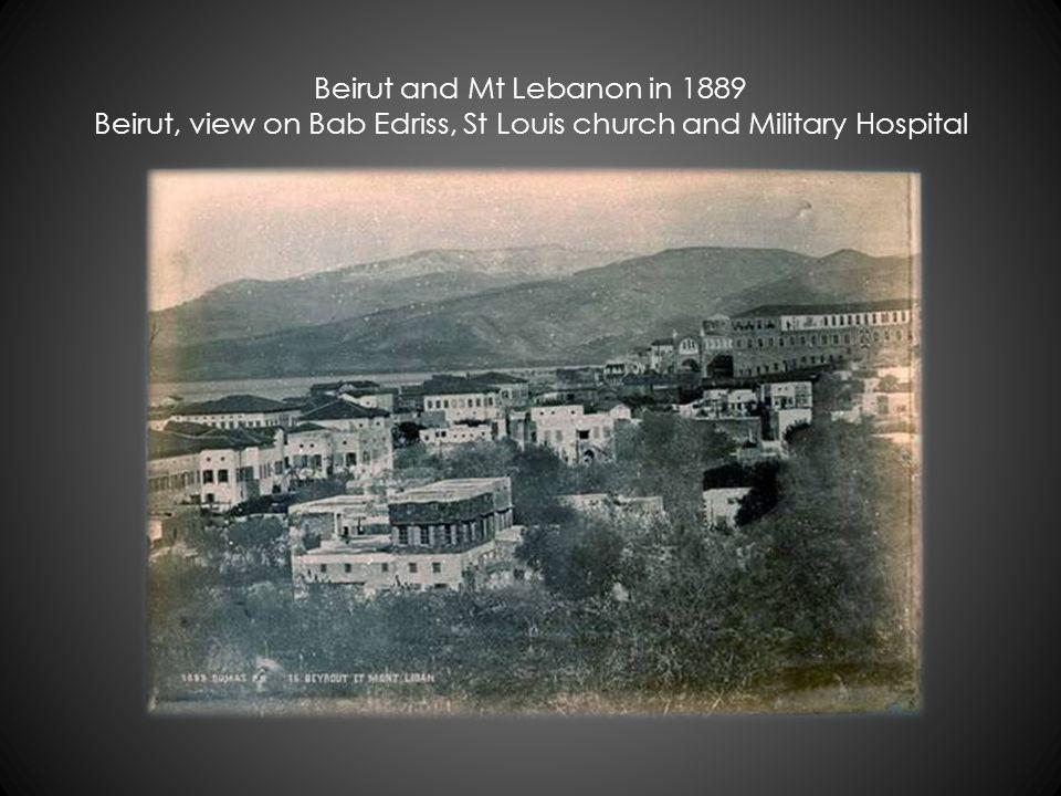 1889 Beirut and Mont Lebanon - Blachford Collection