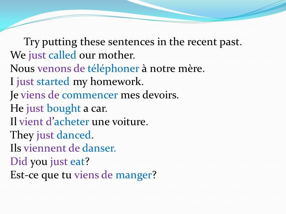 Negatives To make a sentence Negative – add Ne… pas.
