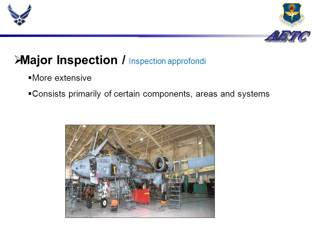 Preventive Aircraft Maintenance Condition replacement Unserviceable / non réparable Component failure / équipement en panne Identified as out of limits Require regular inspection / inspections régulier
