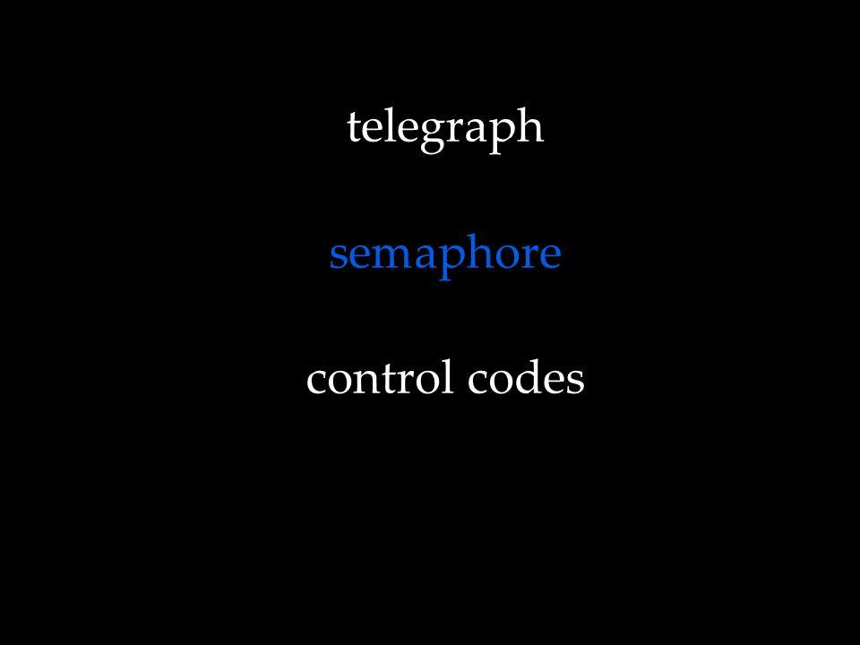 telegraph semaphore control codes