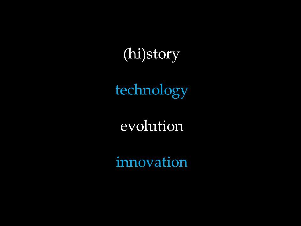(hi)story technology evolution innovation
