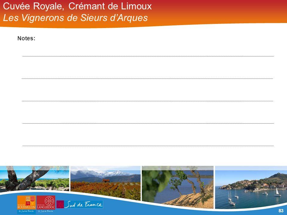 83 Cuvée Royale, Crémant de Limoux Les Vignerons de Sieurs dArques Notes: