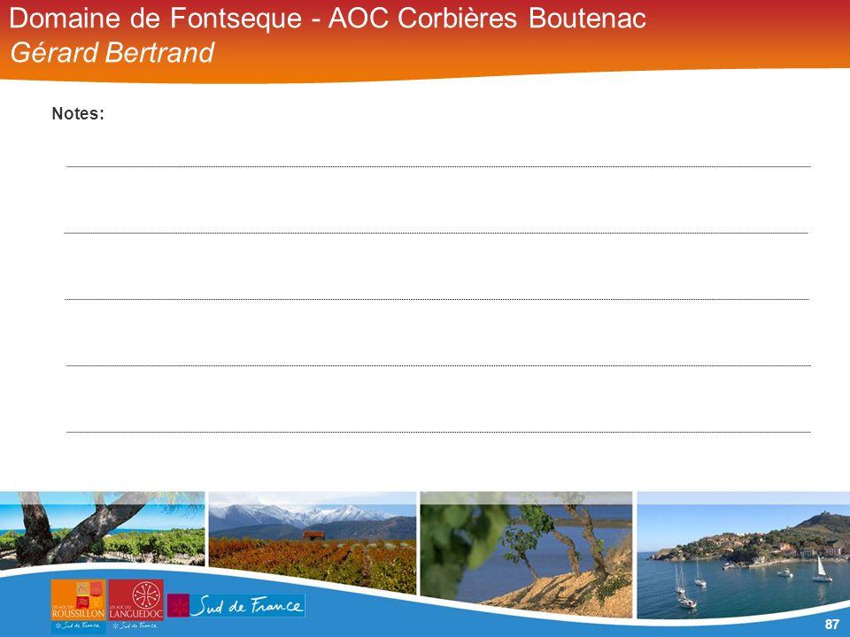 87 Domaine de Fontseque - AOC Corbières Boutenac Gérard Bertrand Notes: