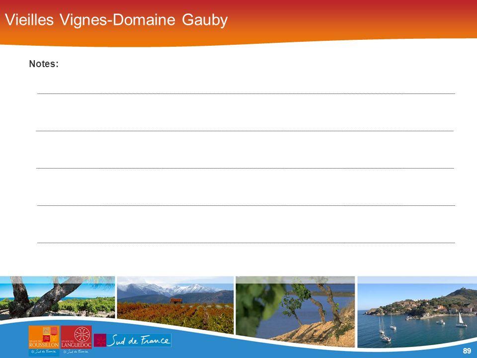 89 Vieilles Vignes-Domaine Gauby Notes: