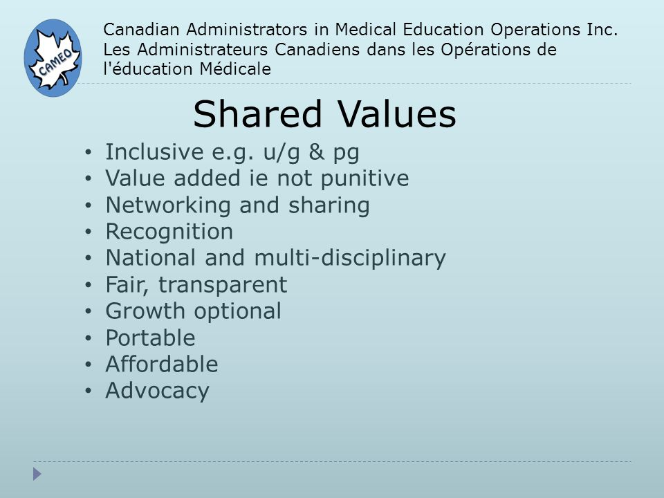 Canadian Administrators in Medical Education Operations Inc.