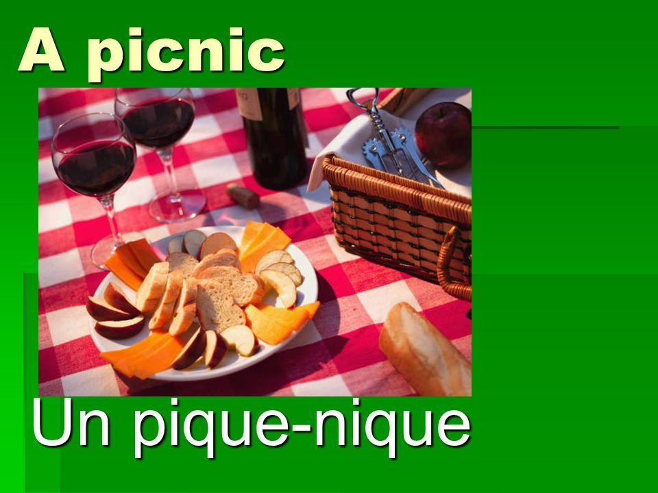 A picnic Un pique-nique