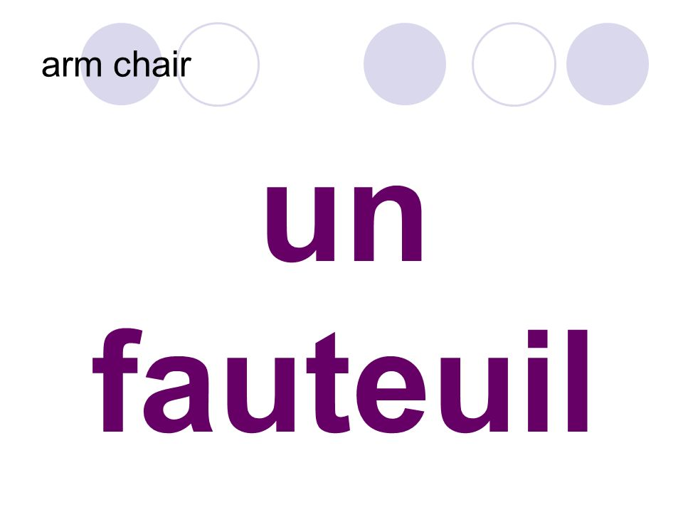 un fauteuil arm chair
